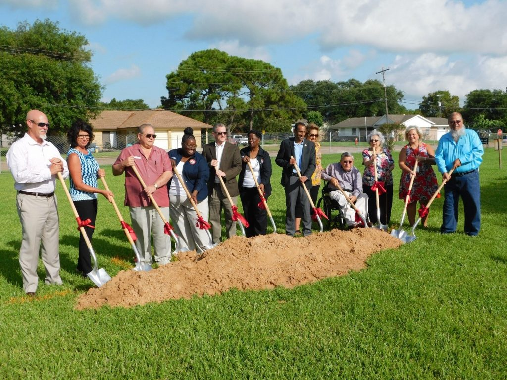 Texas ISD Groundbreaking - digging